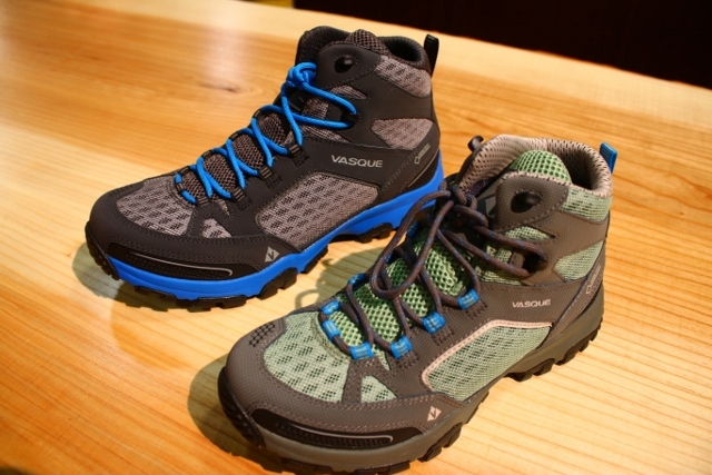 The Vasque Inhaler Mid on display at Outdoor Retailer 2014 Summer Market. (Photo: Jared Hargrave - UtahOutside.com)