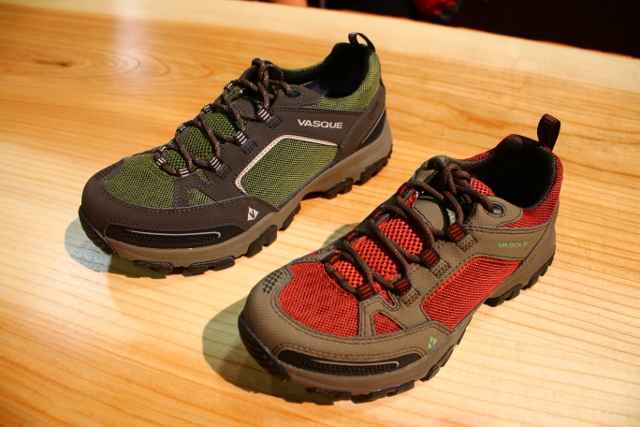 The Vasque Inhaler Low on Display at Outdoor Retailer 2014 Summer Market. (Photo: Jared Hargrave - UtahOutside.com)