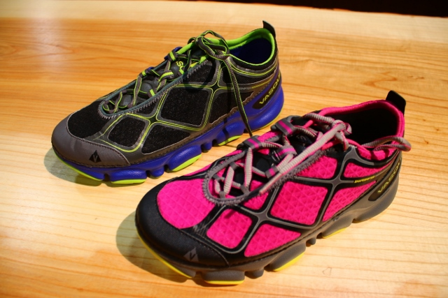 The Vasque Trail Bender running shoes at their booth at Outdoor Retailer 2014 Summer Market. (Photo: Jared Hargrave - UtahOutside.com)
