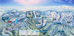 ONE Wasatch map details proposed lift alignments to connect all seven Wasatch ski areas from park City to Little Cottonwood Canyon. (Photo: Ski Utah)
