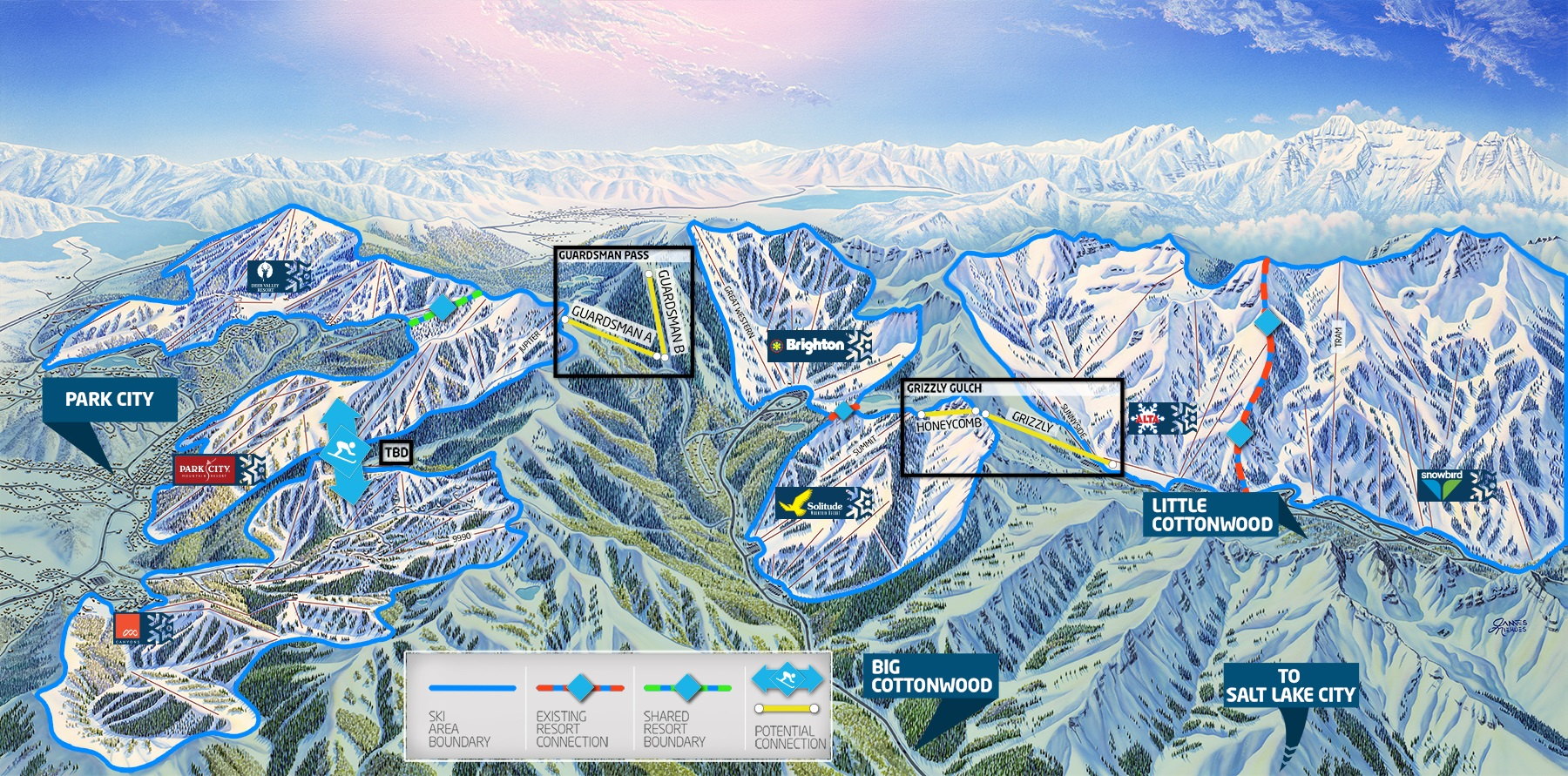 Mountain accord reveals blueprint for wasatch mountains ski utah reveals one wasatch lift connector locations malvernweather Choice Image
