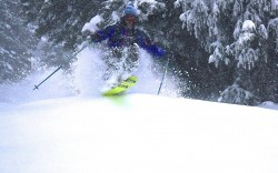 Jesse Weeks shreds new snow at Alta on Sunday before Snowmageddon shut down much of the Cottonwood Canyon ski areas on Monday. (Photo: Joe Johnson)