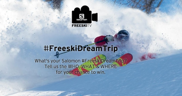 Salomon #FreeSkiDreamTrip contest in happening until December 24, 2014. (Image: Salomon Freeski)
