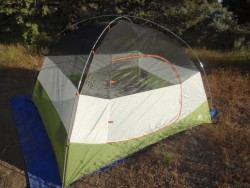The Kelty Discover 4 tent sets up easily, has plenty of space, and won't break the bank (photo: Todd Dinsmore)