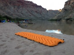 We review the Klymit Insulated Static V Lite camping pad, seen here on the shores of the Colorado River. (Photo: Jared Hargrave - UtahOutside.com)