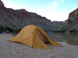 Gear review of the Big Agnes Slater UL2+ Tent, seen here along the banks of the Colorado River in Canyonlands National Park. (Photo: Jared Hargrave - UtahOutside.com)
