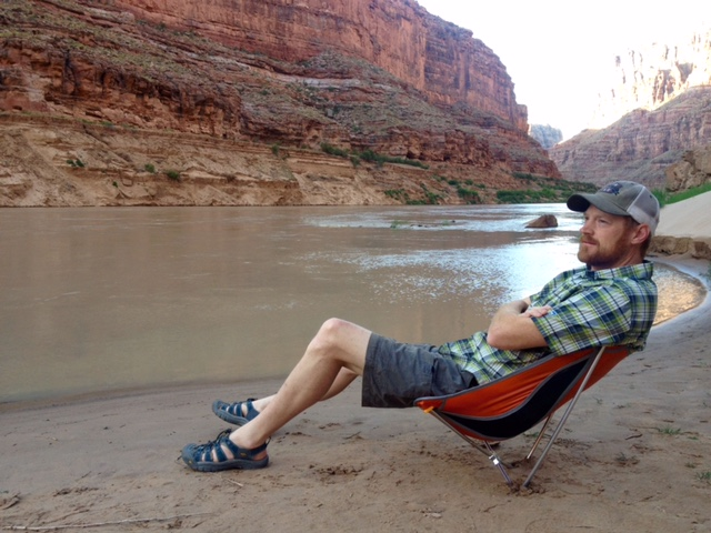 Chilling by the river in the Alite Designs Monarch Chair. (Photo: Andrew Wittenberg)