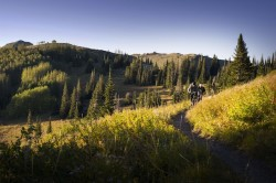 You can mountain bike in park City from Midway to Mill Creek on old, hand-cut trails to wide, machine-cut masterpieces. (Photo: Ross Downard Photography)