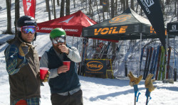 Backcountry bros at the 2015 Backcountry BASECAMP at Smugglers Notch, Vermont. (Photo: Tyler Cohen, Backcountry Magazine)