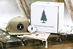 The Tinlid Hat Company has two missions: sell you fresh gear and plant trees. Pictured is the Hemp Hat snapback cap. (Photo: Tinlid Hat Co.)