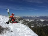 Adam Symonds takes in the view from City Creek Peak in the Tushar Mountains. (Photo: Jared Hargrave - UtahOutside.com)