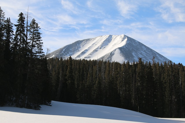 Mout Mellenthin is an icon of La Sal Mountain peaks, and one any Utah backcountry skier should have on their tick list. (Photo: Jared Hargrave - UtahOutside.com)