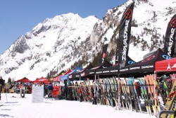 Demo next year's skis at the Alta in April Demo Day. (Photo: Discover Alta)