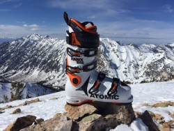 The Atomic Hawx Ultra are new for the 2016/17 ski season, and are the lightest alpine ski boot Atomic has ever made. (Photo: Jared Hargrave - UtahOutside.com)