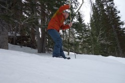Putting the MSR Striker 240 Probe through the paces in the Wasatch Mountains (photo: Ryan Malavolta/Utahoutside.com)