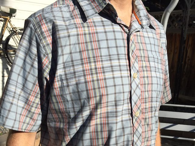 We review the Basin and Range Flying Dog Shirt, good for recreating in the mountains, or dressing up for a date night. (Photo: Callista Pearson - UtahOutside.com)