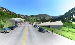 """Artist's rendition of a proposed """"main street"""" commercial core alongside SR 210 in the Town of Alta. (Image: Town of Alta/Landmark Design)"""