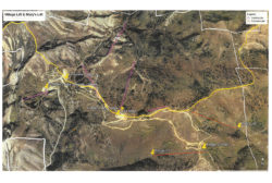 Map of the proposed new lift alignments at Powder Mountain that has been submitted to Weber County for approval.