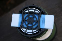 The Thermacell Scout uses insect repellent mats heated by a flame-free butane cartridge. (Photo: Jared Hargrave - UtahOutside.com)