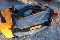 The Cargo Hauler 90 liter bag was perfect for week long road trips and quick getaways; any and all gear is swallowed and stowed with ease. (Photo: Ryan Malavolta/Utahoutside)