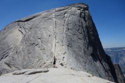 A view of the route up the shoulder of Half Dome. Not for the timid! (photo: Ryan Malavolta/Utahoutside)