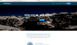 A look at the ProEditors home page. Sign up to create your movie, or follow the link to get some advice on how to shoot better videos. (courtesy: ProEditors