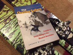 "Andrew McLean's classic guide book, ""The Chuting Gallery."" Luke Hinz aims to ski all 90 lines in one season. (Photo: Jared Hargrave - UtahOutside.com)"