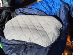 We review the new Klymit Luxe Pillow, an inflatable camping pillow that is really comfortable. (Photo: Jared Hargrave - UtahOutside.com)
