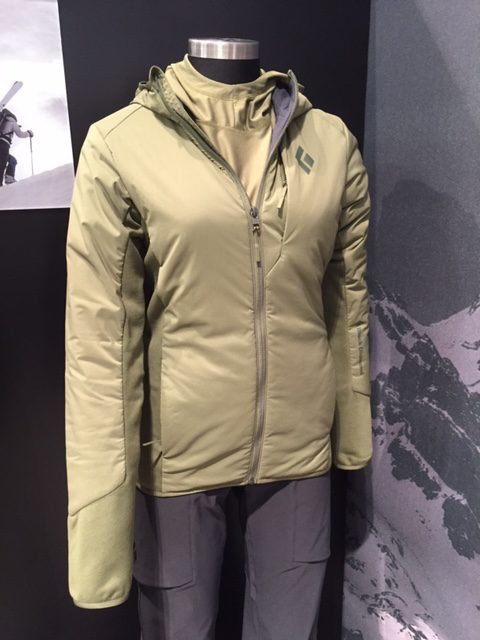 Black Diamond First Light Hybrid Hoody, Available In Menu0027s And Womenu0027s  Versions. Seen Here At The 2017 Outdoor Retailer Winter Market.