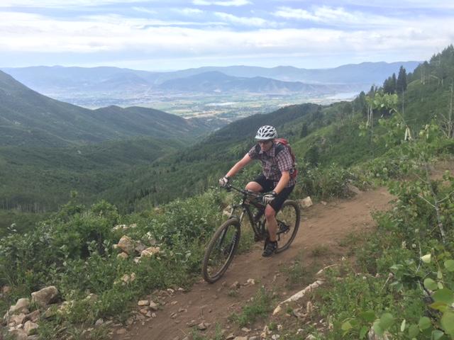 Mountain biking WOW Trail at Wasatch Mountain State Park